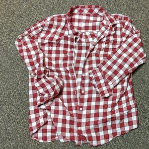 St John's bay plaid shirt size XL